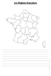 Carte muette des régions : 3eme Primaire
