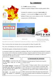 La Commune – Fiches Document, questions et correction : 3eme Primaire