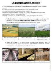 Les paysages agricoles en France – Exercices : 3eme, 4eme, 5eme Primaire
