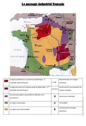 Carte du paysage industriel français : 4eme, 5eme Primaire