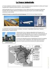 La France industrielle – Exercices : 4eme, 5eme Primaire