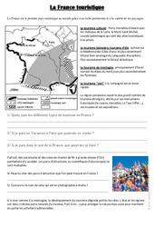 La France touristique – Document, questions, correction : 4eme, 5eme Primaire
