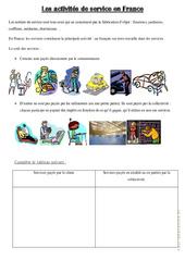 Les activités de service en France – Exercices : 4eme, 5eme Primaire