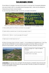 Les paysages ruraux – Exercices : 3eme Primaire