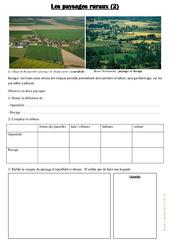 Les paysages ruraux  – Document, questions et correction : 3eme Primaire