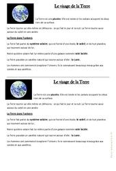 Le visage de la Terre – Cours, Leçon : 3eme Primaire