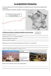 La population française  – Exercices : 4eme, 5eme Primaire