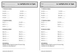 Multiplication : 2eme Primaire - Exercice évaluation ...