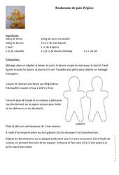 Bonhomme de pain d'épices – Fête des pères – Arts plastiques : 2eme, 3eme, 4eme, 5eme Primaire