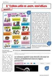 Education aux médias – Exercices : 4eme, 5eme Primaire