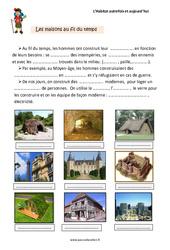 Habitat – Autrefois et aujourd'hui – Cours, Leçon : 2eme Primaire