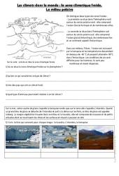 Le milieu froid – Exercices la zone climatique froide : 4eme, 5eme Primaire