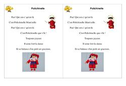 Poésie carnaval – Polichinelle –   Français : 2eme Primaire
