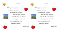 Poésie – La bonté –   Français : 2eme Primaire