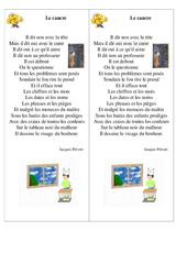 Le cancre – Jacques Prévert – Fable : 3eme, 4eme, 5eme Primaire