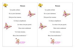 Maman – Fête des mères – Poème et poésie – 2 : 2eme Primaire