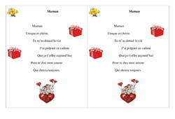 Maman – Fête des mères – Poème et poésie : 2eme Primaire