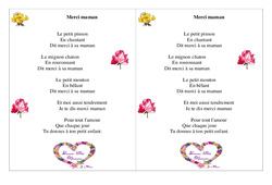 Merci maman – Fête des mères – Poème et poésie : 2eme Primaire