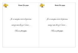 Bonne fête papa – Poésie, poème – Fête des pères : 2eme Primaire