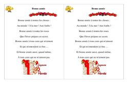 Bonne année – Poésie, poème – Nouvel an : 2eme Primaire