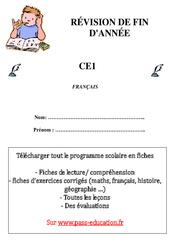 Français – Révisions fin d'année – Examen Evaluation  : 2eme Primaire