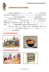 Alimentation – Autrefois et aujourd'hui – Cours, Leçon : 2eme Primaire