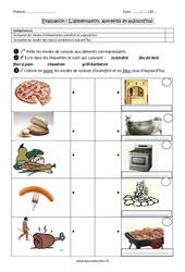 Alimentation – Autrefois et aujourd'hui – Examen Evaluation : 2eme Primaire