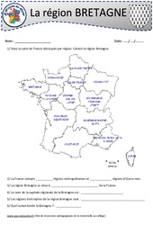 Bretagne – Je découvre ma région : 4eme, 5eme Primaire