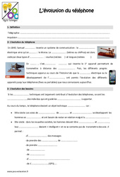 Evolution du téléphone – Cours, Leçon : 4eme, 5eme Primaire