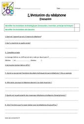 Evolution du téléphone – Examen Evaluation : 4eme, 5eme Primaire