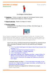 Dangers domestiques – Fiche de préparation : 2eme, 3eme Maternelle – Cycle Fondamental