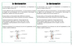 Thermomètre – Cours, Leçon – La matière : 2eme Primaire