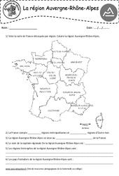 Auvergne – Rhône – Alpes – Je découvre ma région : 4eme, 5eme Primaire