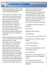 La télévision de Stéphane – Oukélé la télé – Exercices – Lecture – Récit : 3eme Primaire