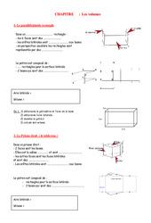 Volumes – Grandeurs et Mesures – Exercices – Examen Contrôle – Mathématiques : 1ere Secondaire