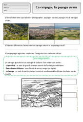Campagne – Paysages ruraux – Exercices – Espace temps : 2eme Primaire