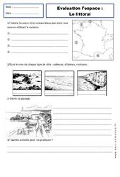 Littoral – Examen Evaluation – Espace temps : 2eme Primaire