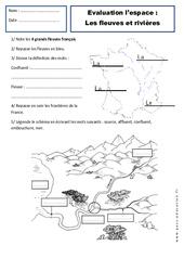 Fleuves – Rivières – Paysages – Examen Evaluation – Espace temps : 2eme Primaire