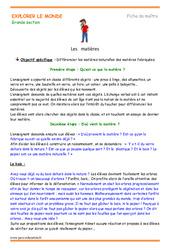 Matières – Plan de séquence : 3eme Maternelle – Cycle Fondamental