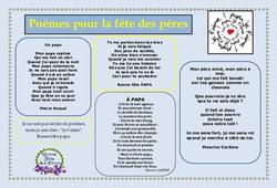 Fête des pères – Poèmes – Vie de la classe : Primaire – Cycle Fondamental