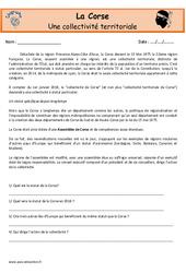 Corse – Je découvre ma région : 4eme, 5eme Primaire