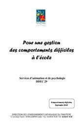 Gestion du comportement en  – Aides pour les enseignants : 3eme, 4eme, 5eme Primaire