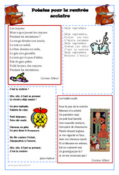 Poésies pour la rentrée scolaire – Lecture : 2eme, 3eme, 4eme, 5eme Primaire