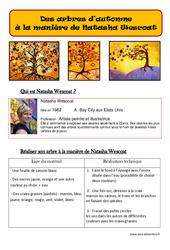 Arbres d'automne à la manière de Natasha Wescoat – Arts plastiques : 2eme, 3eme, 4eme, 5eme Primaire