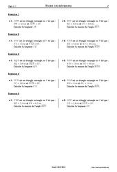 Trigonométrie – Exercices corrigés – Mathématiques – Soutien scolaire : 2eme Secondaire