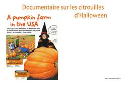 Citrouilles d'halloween – Texte documentaire – Lecture – Vie de la classe : 2eme, 3eme, 4eme, 5eme Primaire