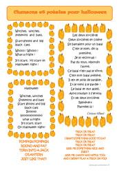 Poèmes et chansons pour Halloween – Lecture – Vie de la classe : 2eme, 3eme, 4eme, 5eme Primaire
