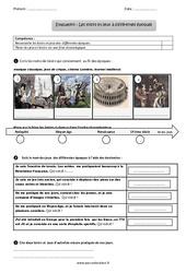 Loisirs et jeux à différentes époques – Examen Evaluation – Bilan : 3eme Primaire