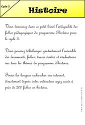 Livrets pédagogiques à télécharger- Fiches Histoire – Géographie – Sciences – Instruction civique – Histoire de l'art  pour le  et Découverte du monde  : 2eme, 3eme, 4eme, 5eme Primaire