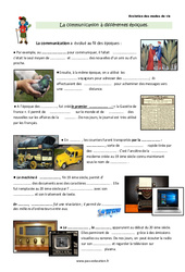 Communication à différentes époques – Cours, Leçon : 3eme Primaire